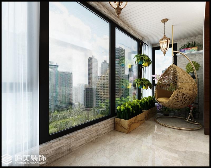 美式风格 三居 阳台图片来自河南追美装饰在美景嘉园145㎡美式风格的分享