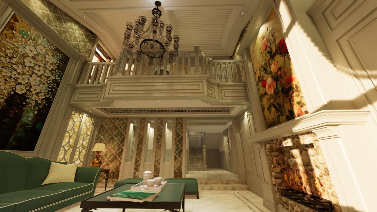 欧式 田园 混搭 别墅图片来自寒泉空间设计事务所在别墅专辑的分享