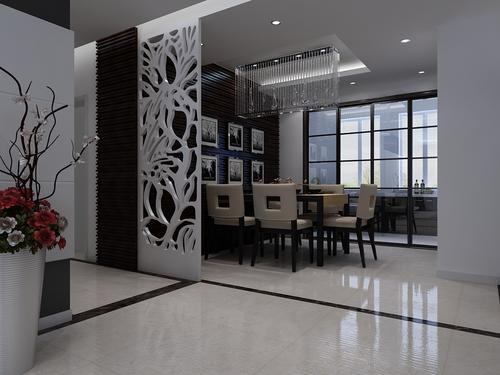 客厅 餐厅图片来自今朝宜居装饰在黑白色调简单的设计的分享