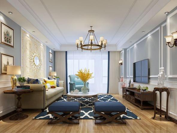 客厅图片来自装家美在得一剑桥城149平米现代简约风的分享