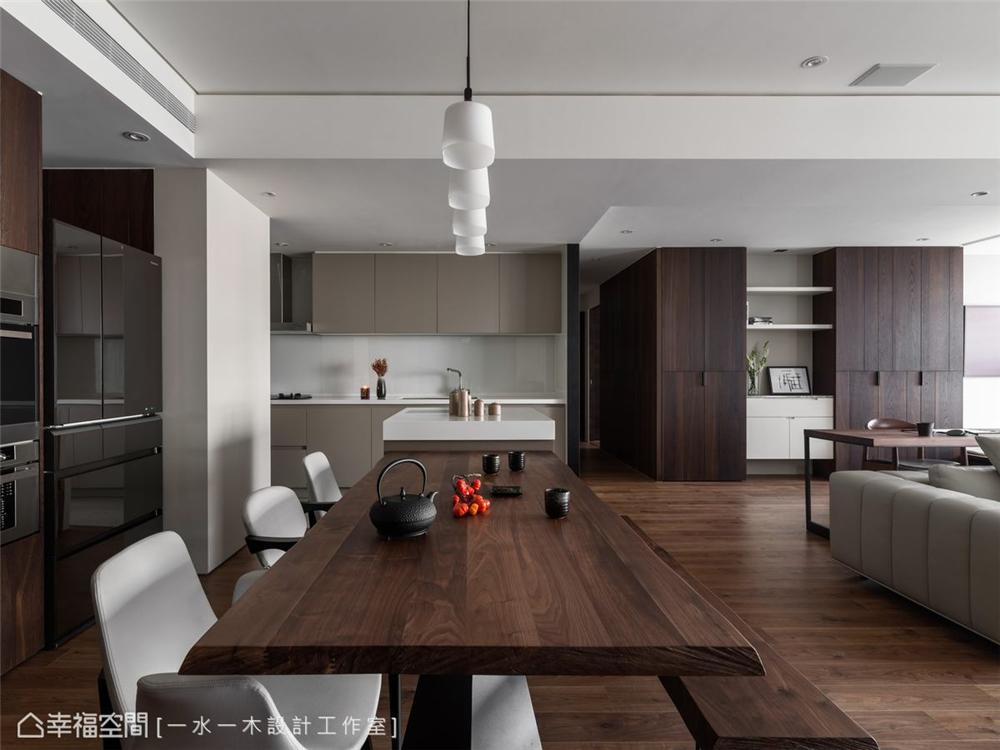 装修设计 装修完成 现代风格 餐厅图片来自幸福空间在149平,日系禅风机能好宅的分享