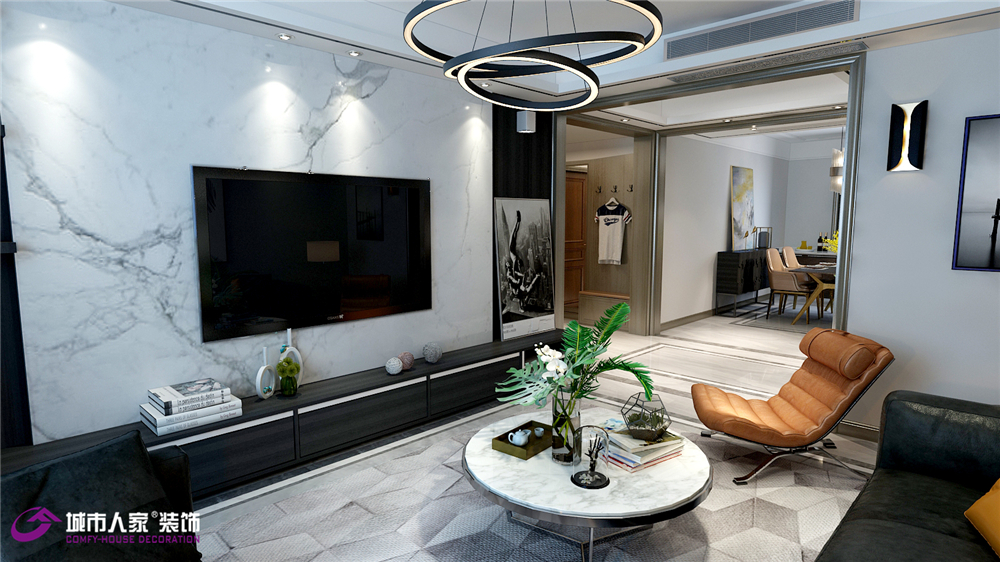 简约 客厅图片来自济南城市人家装修公司-在华皓英伦联邦现代装修效果图的分享