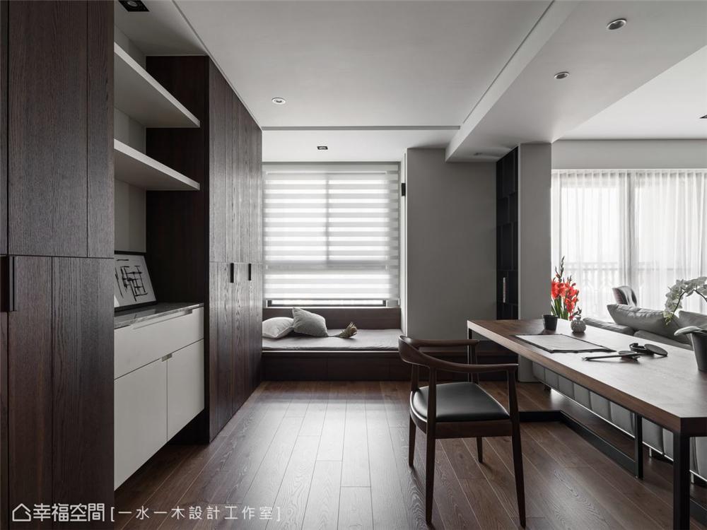 装修设计 装修完成 现代风格 书房图片来自幸福空间在149平,日系禅风机能好宅的分享