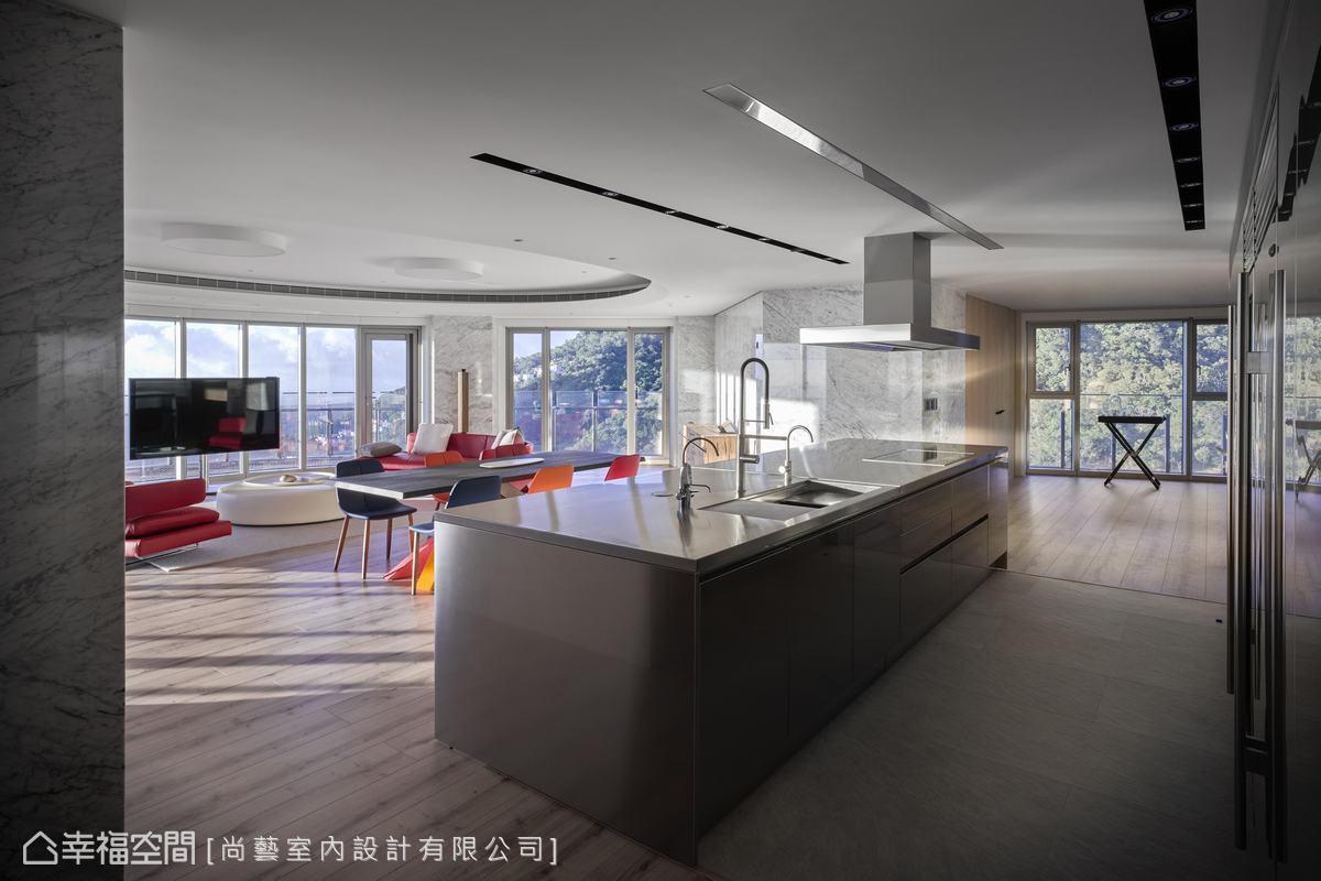 装修设计 装修完成 休闲多元 厨房图片来自幸福空间在506平,山水环景大器时尚宅的分享