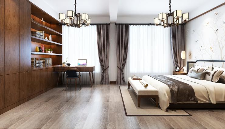 卧室图片来自装家美在中正锦城191平米新中式设计风格的分享