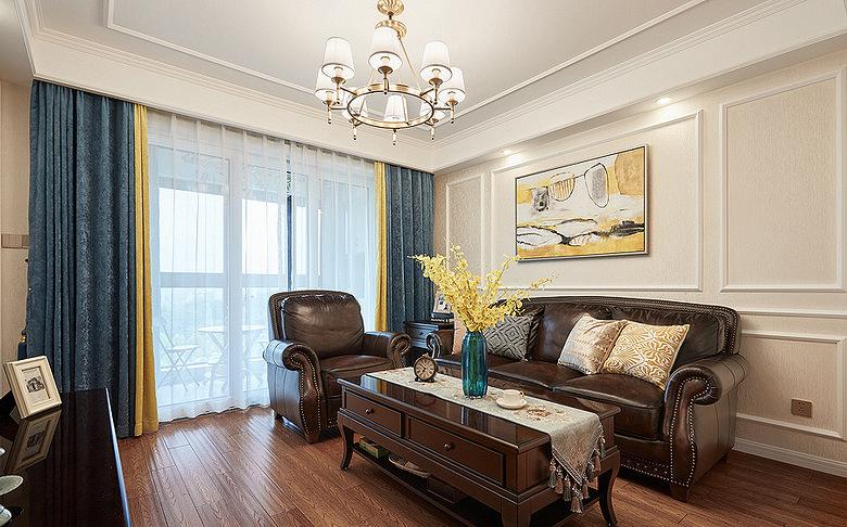 客厅图片来自家装大管家在84平简约美式两居 前卫又大气的分享