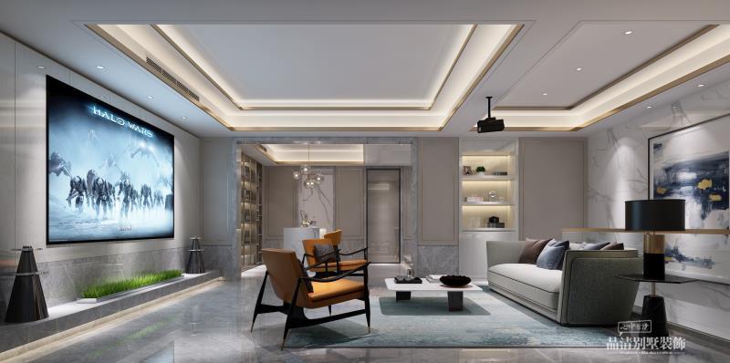 别墅装修 无锡别墅 别墅设计 现代美式图片来自别墅装修设计师在中建城中墅400㎡现代美式风格的分享