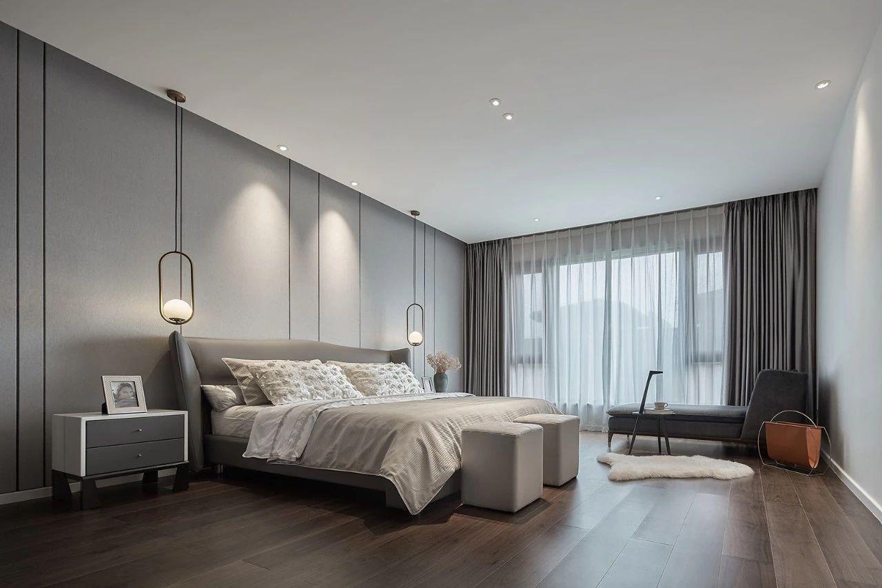 卧室图片来自鹏友百年装饰在现代风私宅设计的分享