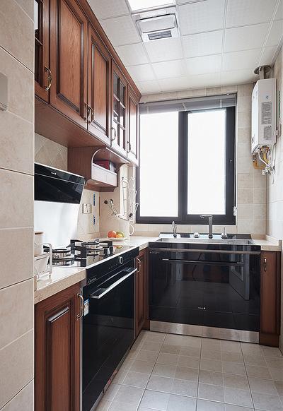 厨房图片来自家装大管家在84平简约美式两居 前卫又大气的分享