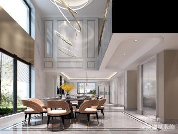 中建城中墅400㎡现代美式风格