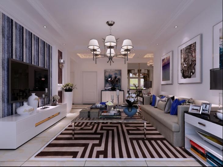客厅图片来自装家美在保利壹号公馆156平米现代风格的分享