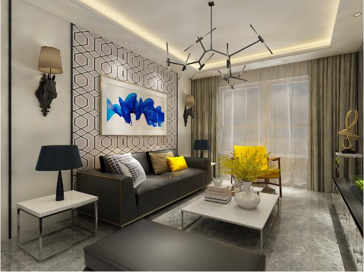 客厅图片来自装家美在首开国风琅樾132平现代简约风的分享