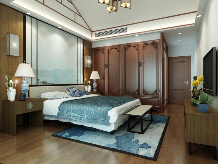 卧室图片来自装家美在东岸悦府173平米新中式风格的分享