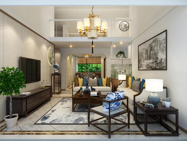 客厅图片来自装家美在东岸悦府173平米新中式风格的分享