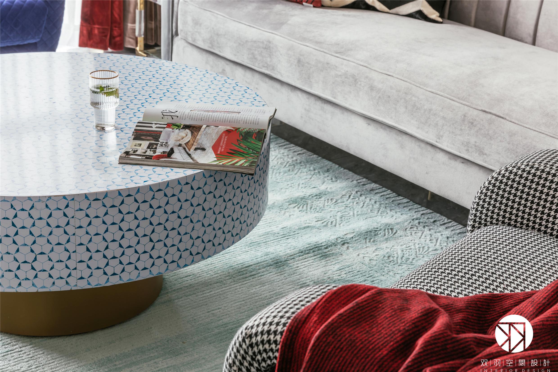 美式 装修 设计 客厅 混搭 轻奢图片来自双羽空间设计在Time Story 時光物語的分享