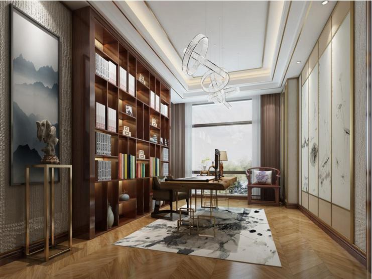 书房图片来自装家美在东岸悦府173平米新中式风格的分享