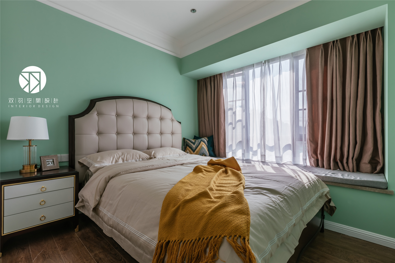 美式 装修 设计 卧室 混搭 轻奢图片来自双羽空间设计在Time Story 時光物語的分享