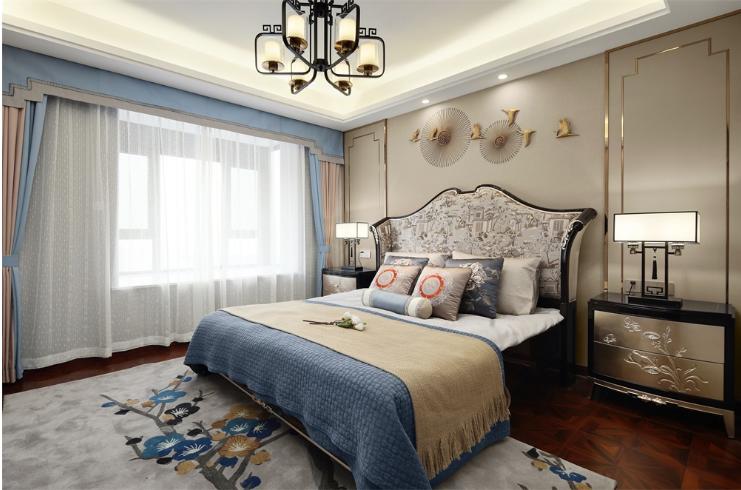 卧室图片来自装家美在首创国际学园150平米新古典风的分享