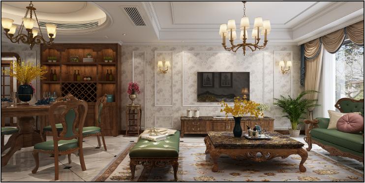 客厅图片来自装家美在首开国风琅樾160平米欧美风格的分享