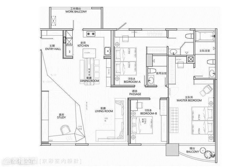 装修设计 装修完成 现代风格 户型图图片来自幸福空间在152平,低奢温润度假雅居的分享
