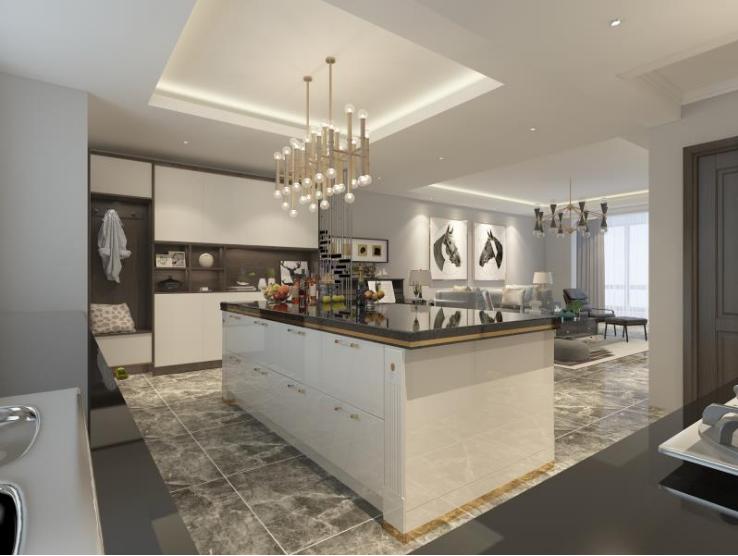 餐厅图片来自装家美在140平米现代轻奢装修设计图的分享