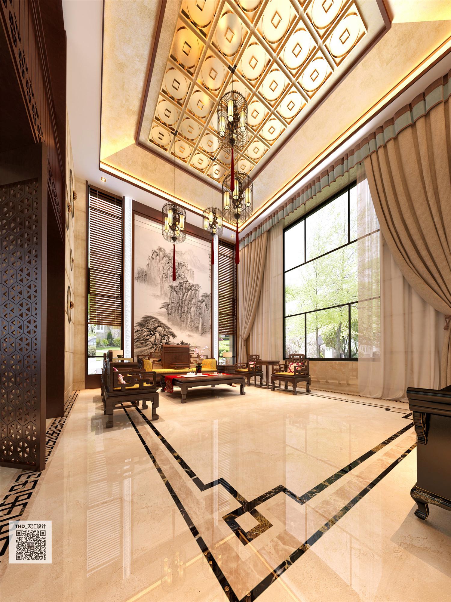 新中式 别墅 豪宅 中式 游小华 客厅图片来自福建天汇设计工程有限公司在THD-天汇设计《九富墅》的分享