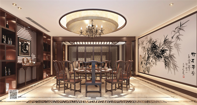 新中式 别墅 豪宅 中式 游小华 餐厅图片来自福建天汇设计工程有限公司在THD-天汇设计《九富墅》的分享