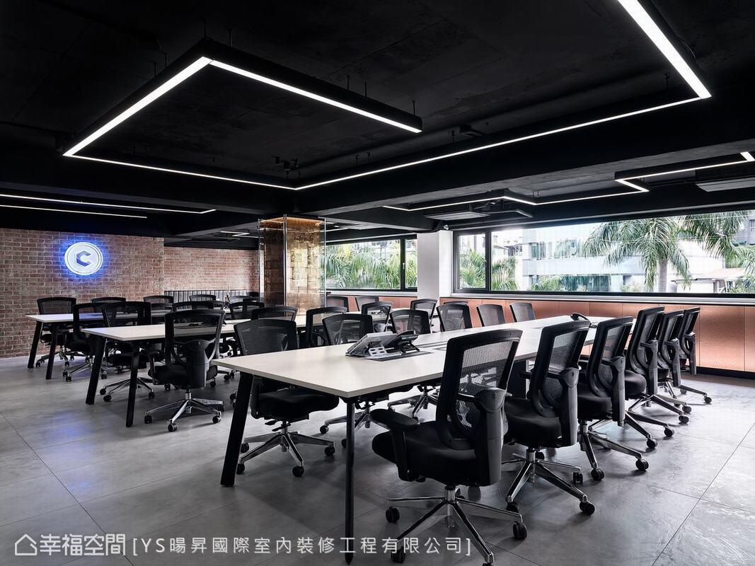 装修设计 装修完成 现代风格 办公空间 其他图片来自幸福空间在231平,线性美学办公空间的分享