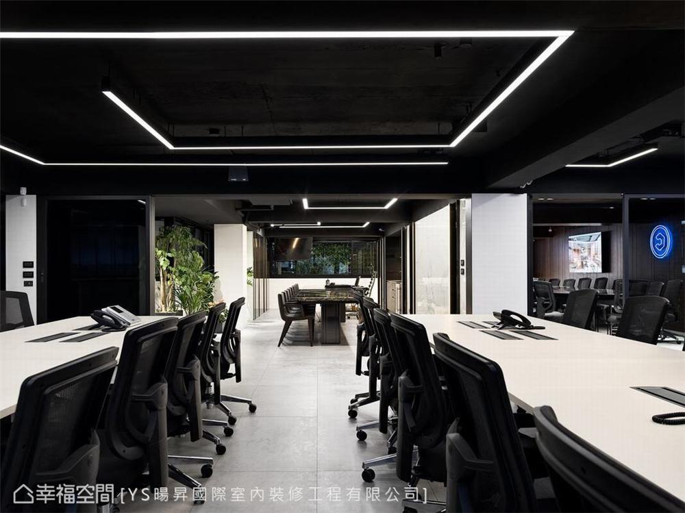 装修设计 装修完成 现代风格 办公空间 客厅图片来自幸福空间在231平,线性美学办公空间的分享