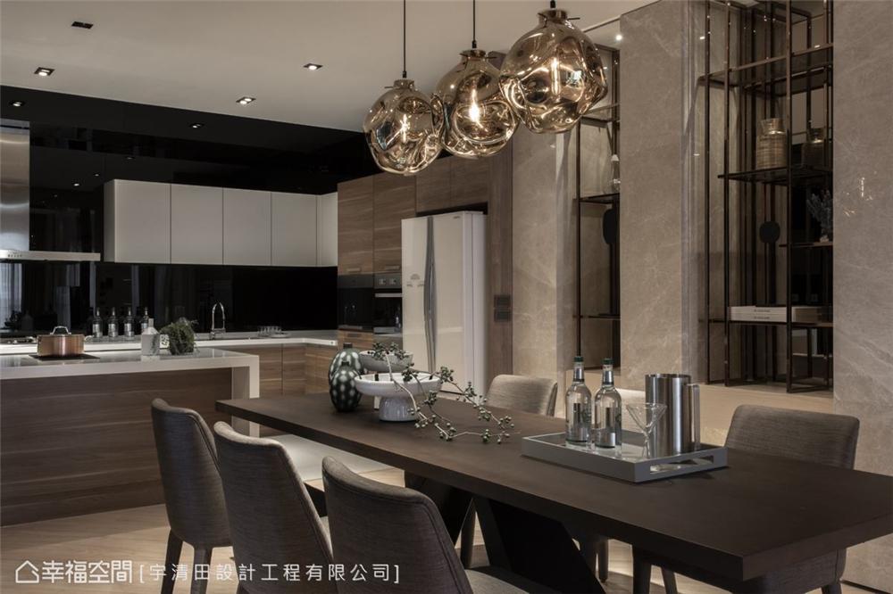 装修设计 装修完成 现代风格 餐厅图片来自幸福空间在149平, 精品工艺唯美宅的分享