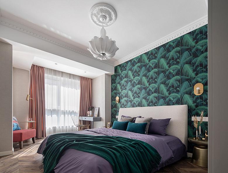卧室图片来自家装大管家在89平休闲法式空间 崇尚冲突之美的分享