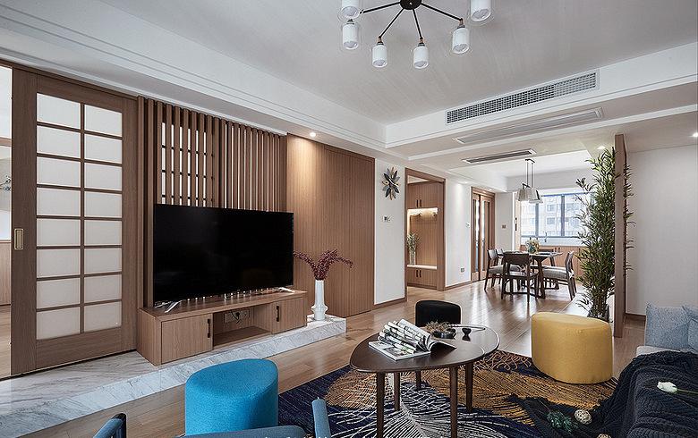 客厅图片来自家装大管家在140平雅致北欧3居 专享静谧时光的分享