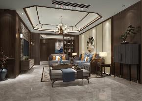 别墅 客厅 中式 白领 定制家装 客厅图片来自兄弟装饰-蒋林明在约克郡悦水岸装修的分享