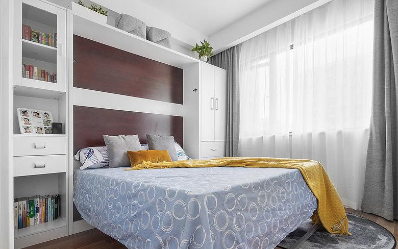 卧室图片来自家装大管家在化繁为简 96平现代主义浪漫两居的分享