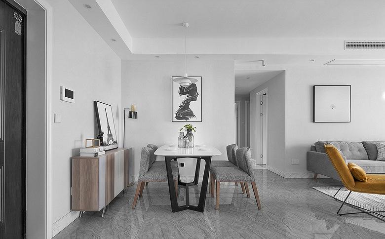 餐厅图片来自家装大管家在化繁为简 96平现代主义浪漫两居的分享