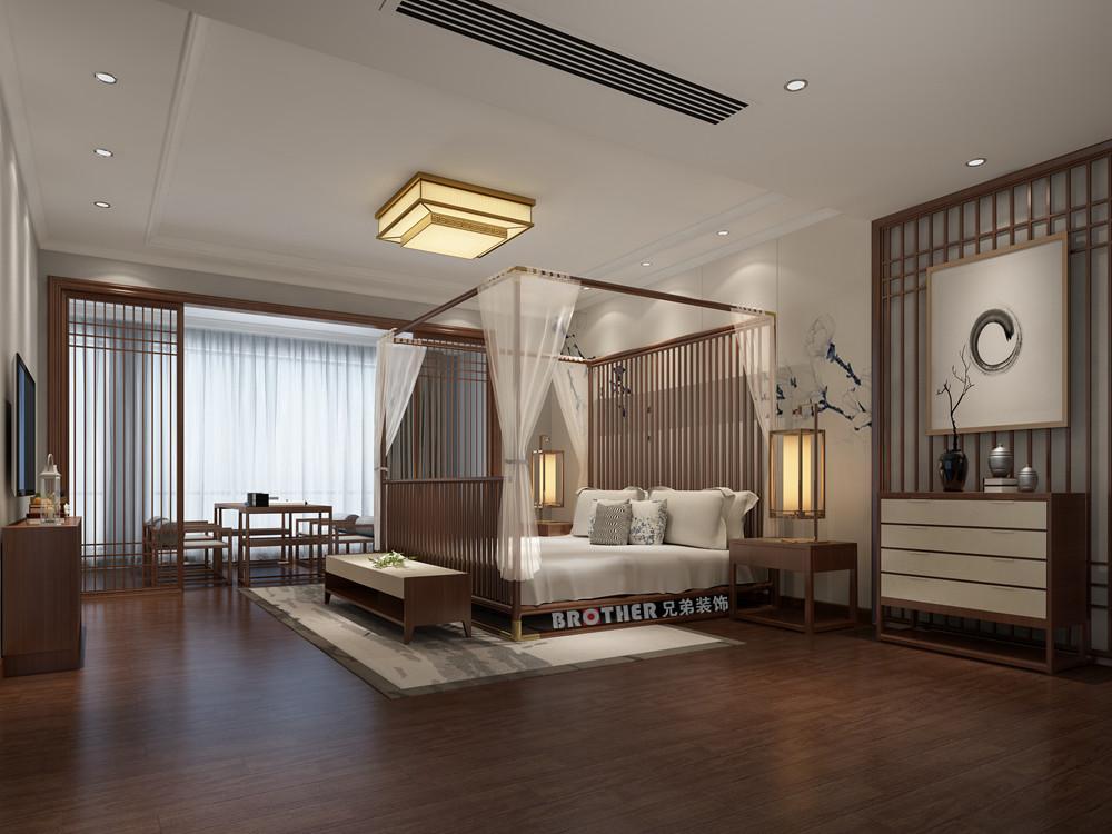 别墅 客厅 中式 白领 定制家装 卧室图片来自兄弟装饰-蒋林明在约克郡悦水岸装修的分享