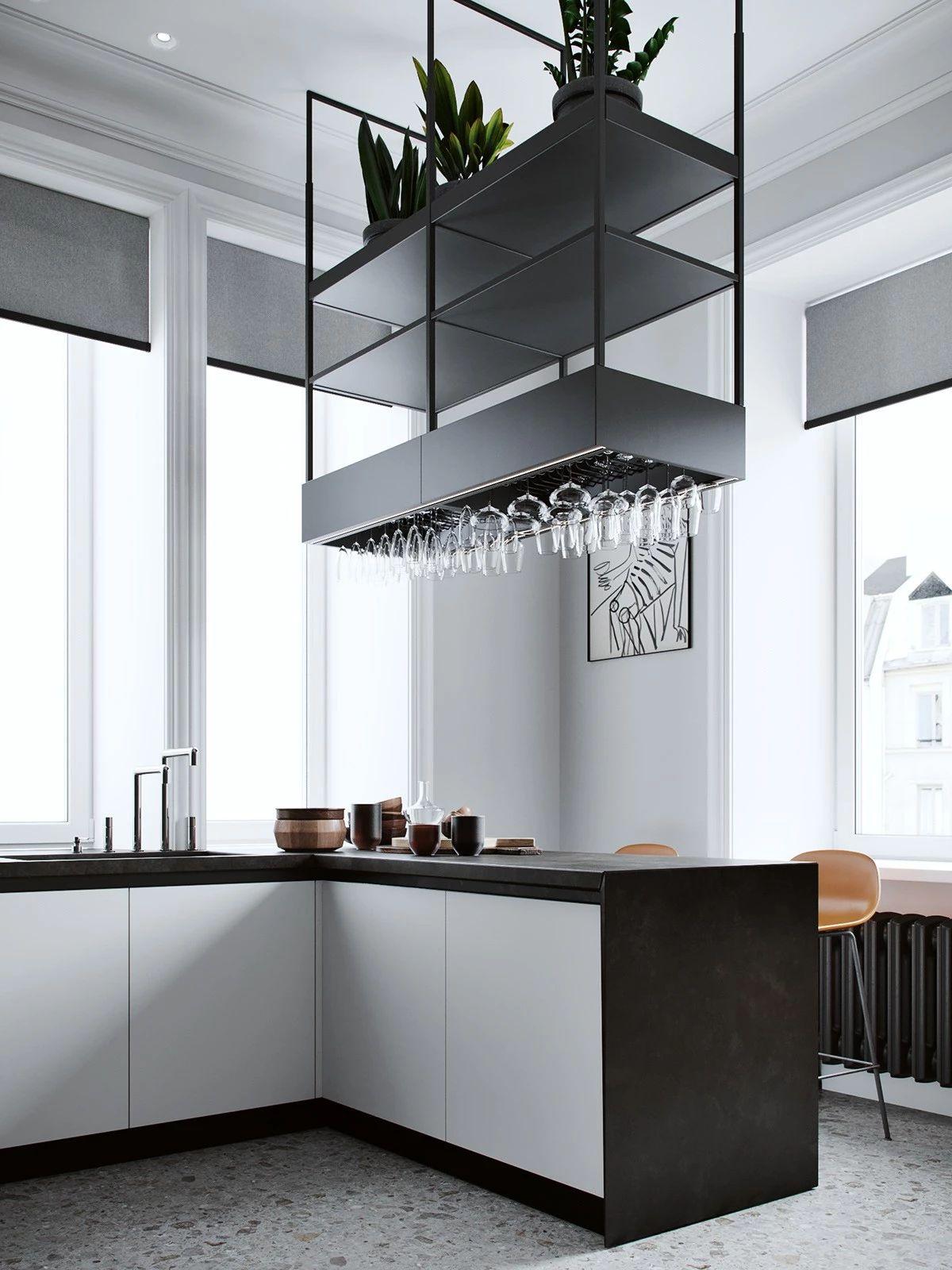 厨房图片来自鹏友百年装饰在这样布局空间大一倍的分享