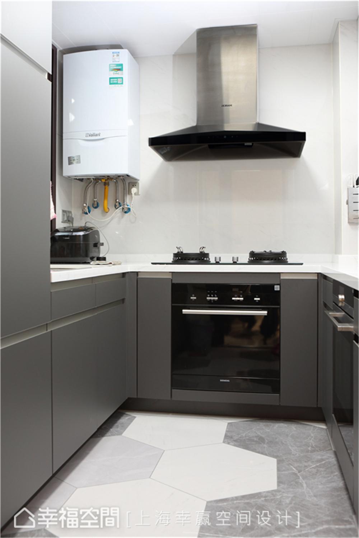 装修设计 装修完成 现代风格 厨房图片来自幸福空间在89平,大容量风水满分文化宅的分享