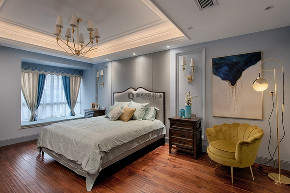 美式 简约 80后 卧室图片来自俏业家装饰在国宾城四室|现代美式风格装修的分享