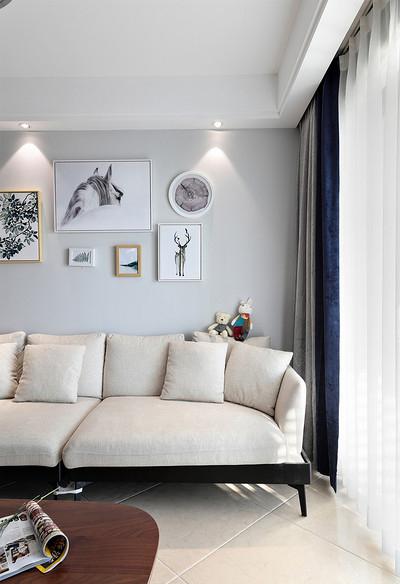 客厅图片来自家装大管家在89平北欧风情居 充满跳跃生机感的分享