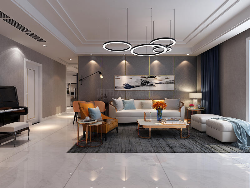 现代轻奢 装修效果图 西安装修 装修公司 四居 客厅图片来自西安城市人家装饰王凯在轻奢生活,聆听旖旎!的分享