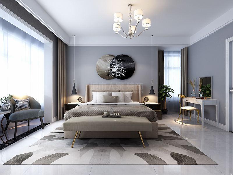 现代轻奢 装修效果图 西安装修 装修公司 四居 卧室图片来自西安城市人家装饰王凯在轻奢生活,聆听旖旎!的分享