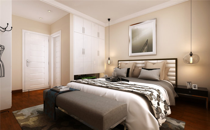 峰光无限 现代 两室 楠香郡 卧室图片来自我是小样在楠香郡91平两室现代风格的分享
