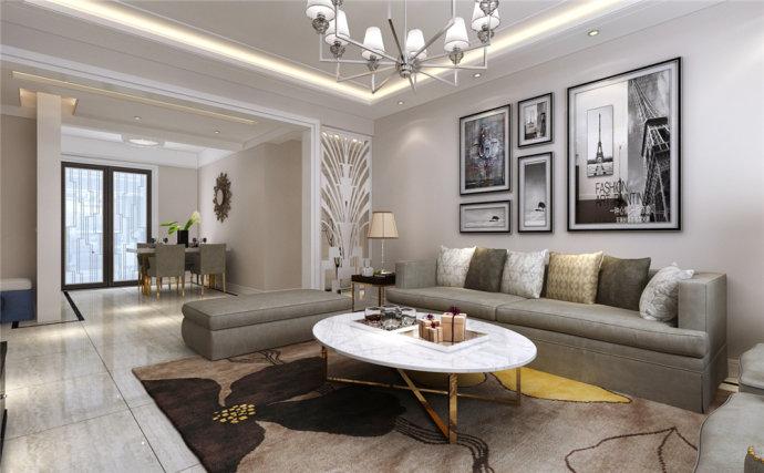 峰光无限 现代 两室 楠香郡 客厅图片来自我是小样在楠香郡91平两室现代风格的分享