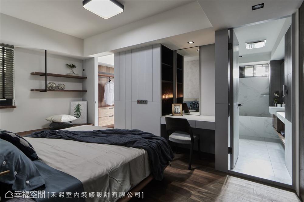 装修设计 装修完成 混搭风 标准格局 卧室图片来自幸福空间在102平,水泥灰韵间,漫染简美的分享