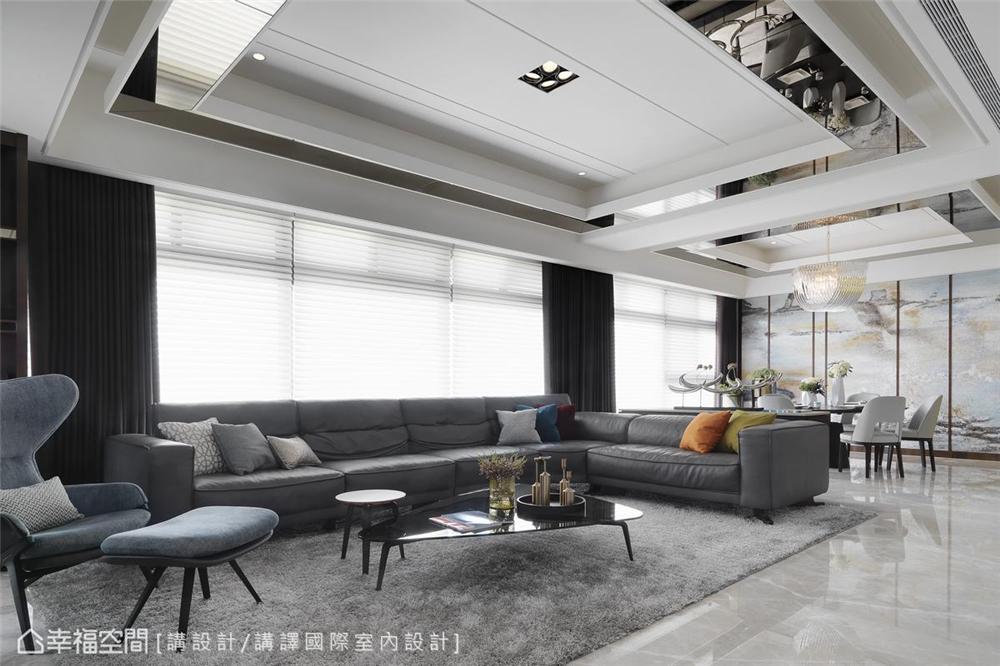 装修设计 装修完成 现代风格 客厅图片来自幸福空间在231平,优雅灰紫调景观宅的分享