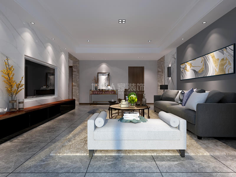 极简风格 四居 装修效果图 西安装修 装修公司 客厅图片来自西安城市人家装饰王凯在极简主义,这才叫简约而不简单!的分享
