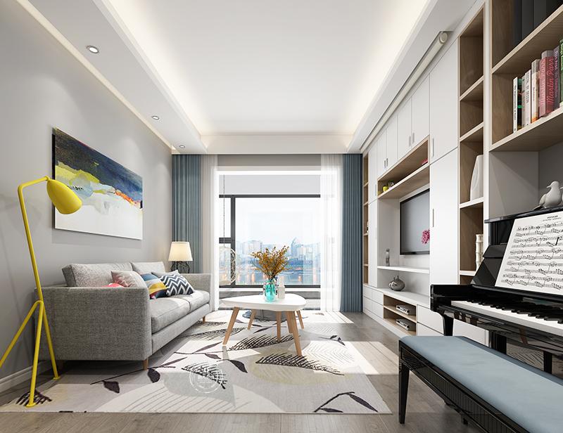 客厅图片来自深圳浩天装饰在前海广场北欧风格装修效果图的分享