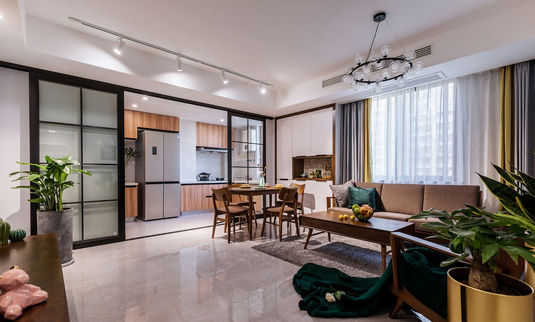 餐厅图片来自家装大管家在130平北欧舒适3居 放空自我世界的分享