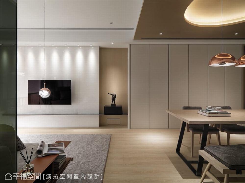 装修设计 装修完成 现代风格 客厅图片来自幸福空间在106平,构筑温柔语汇空间的分享